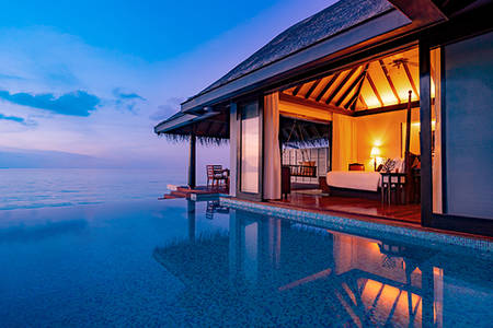 Sunset Over Water pool Villa 549x366