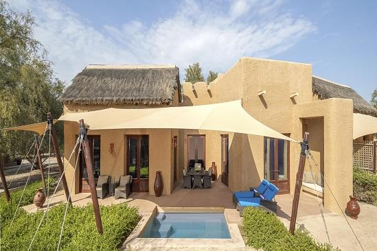 R03 Anantara_Sir_Bani_Yas_Island_Al_Sahel_Villa_Resort_Guest_Room_Two_Bedroom_Villa_Exterior_View_with_Plunge_Pool