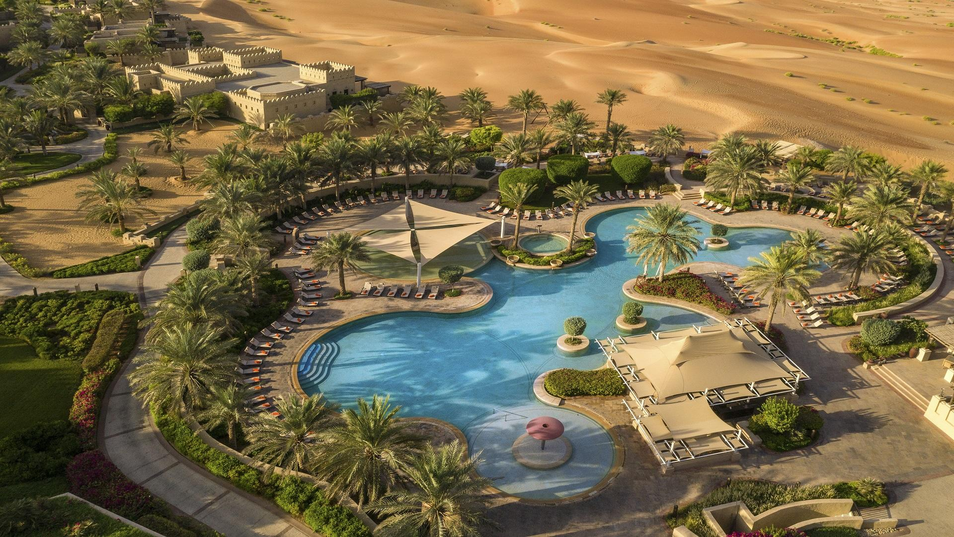 Qasr_Al_Sarab_Desert_ 度假村 _Pool_View_Exterior_Swimming 安纳塔拉 Pool_close