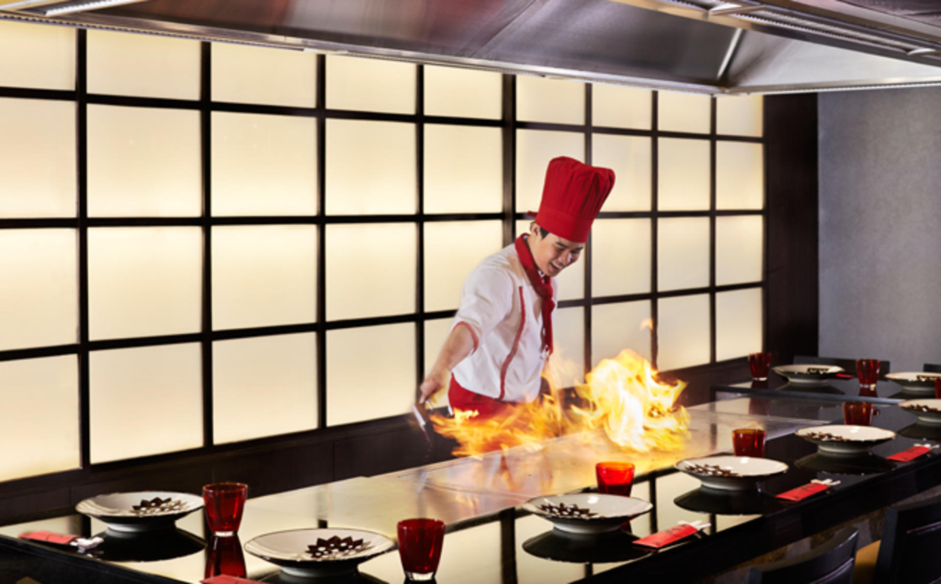 Japanese 4-Course Dinner and Bottle of wine at BENIHANA