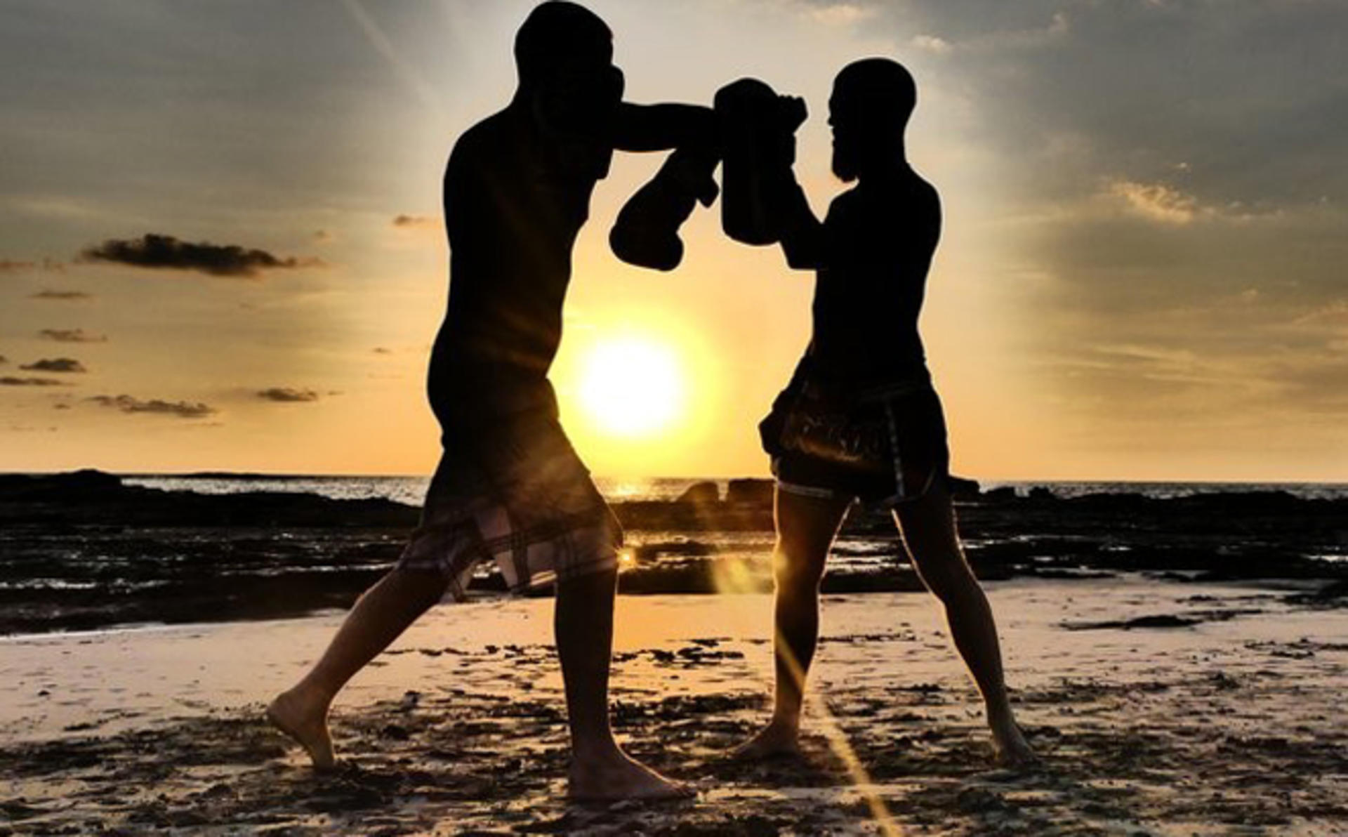 Thai Boxing by the beach