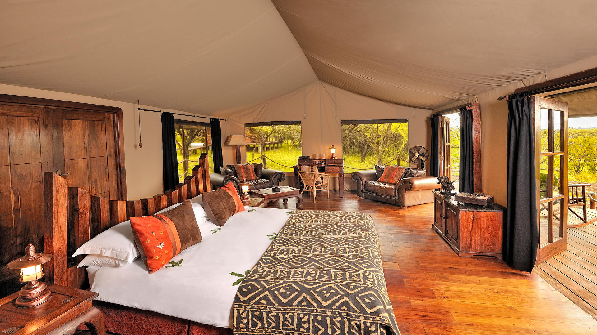 Serengeti-Migration-Camp---Bedroom-Tent---Interior-1