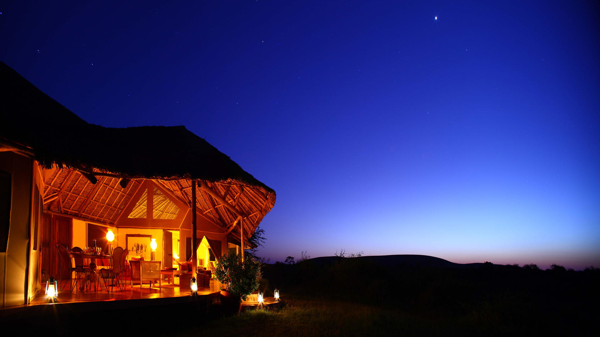 Tortilis-Camp-Amboseli---Private-House-at-Night