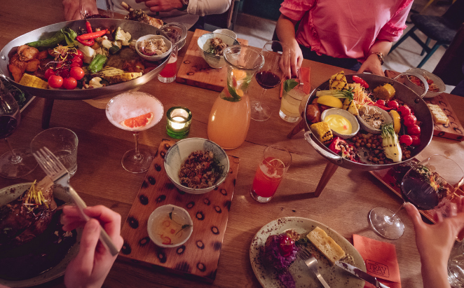 Shareable moments with three course dinner for you (Platinum)