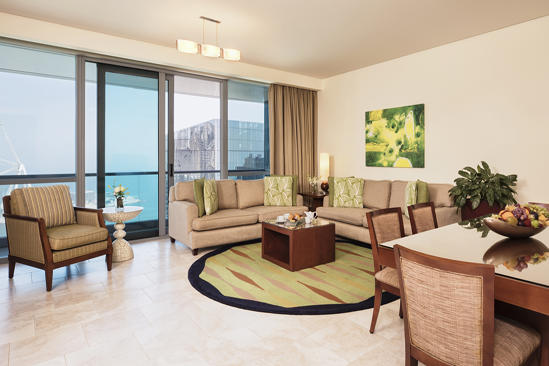 JA Oasis Beach Tower_3 bedroom Deluxe Apartment Living Room