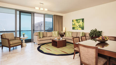 JA Oasis Beach Tower_3 bedroom Deluxe Apartment Living Room_Gallery