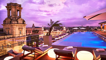 Kempinski La Habana_Pool_Bella_Habana_sunset