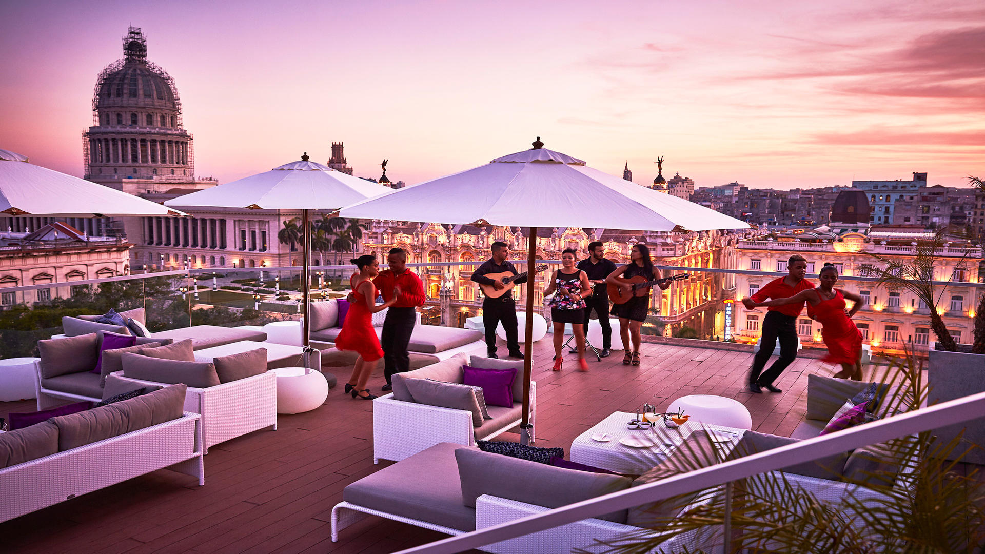 Kempinski La Habana_Pool_Terrace_sunset_Band_2