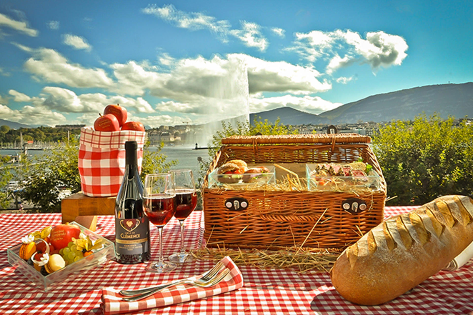Deluxe Picnic Basket for two