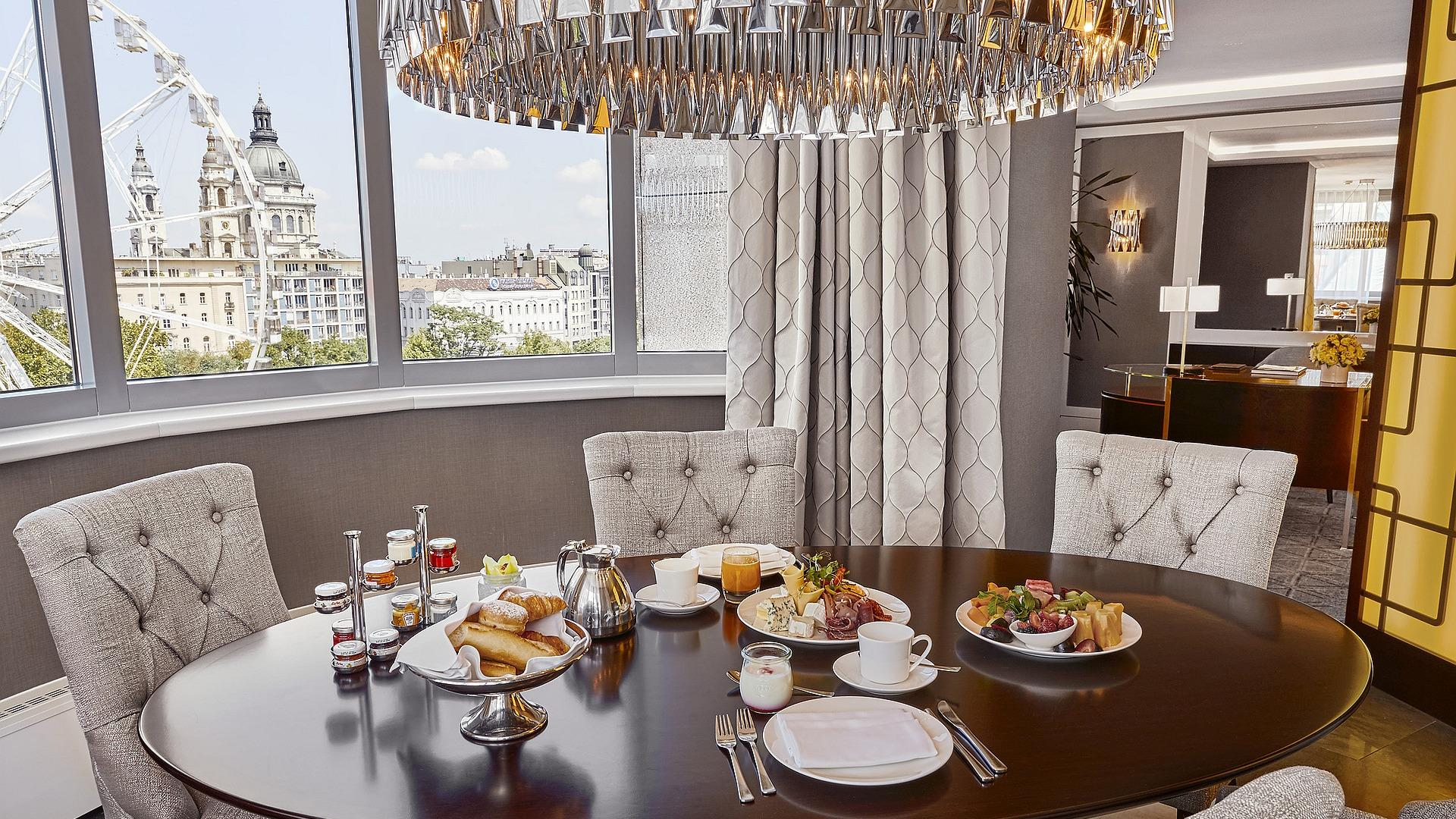 Corvinus Suite Collection - In-Room Dining | Suite 730 | Kempinski Hotel Budapest