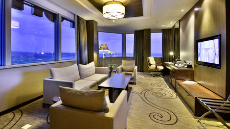 Fleuve Junior Suite Living Room View