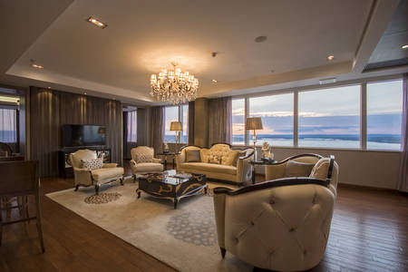 PRESIDENTIAL SUITE LIVING ROOM VIEW