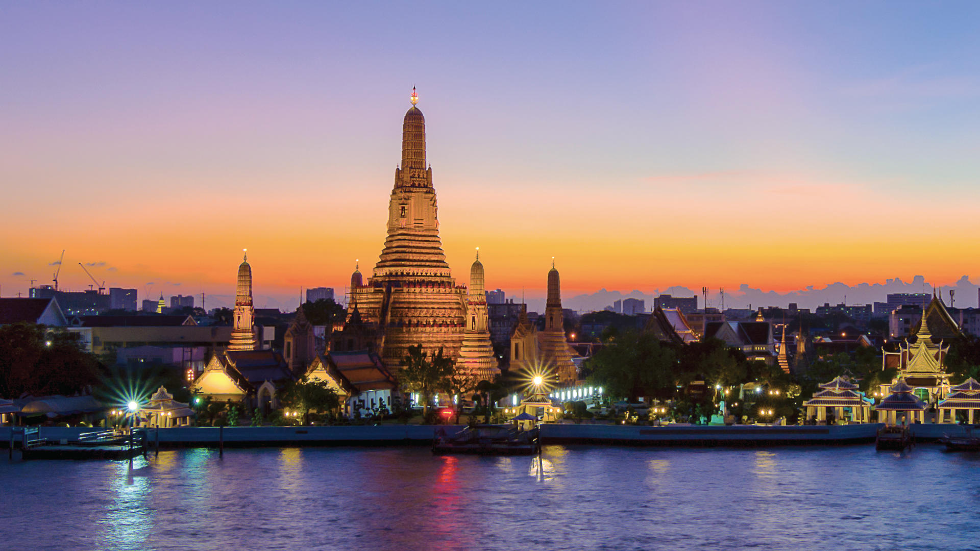 Sunset cocktail cruise on Bangkok's famous Chao Phraya river for two