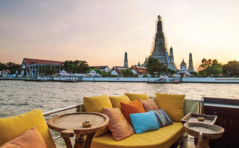 Sunset cocktail cruise on Bangkok's famous Chao Phraya River