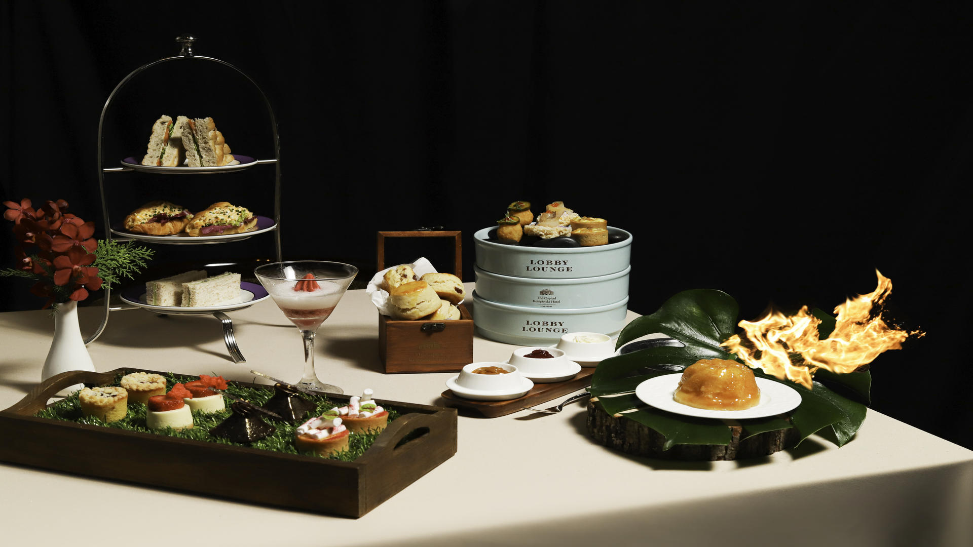 Fire & Ice Afternoon Tea at Lobby Lounge at The Capitol Kempinski Hotel Singapore