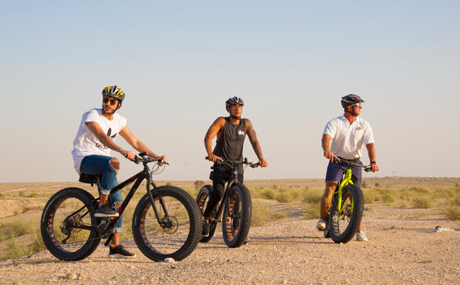 Fat Bike Excursions at Bab Al Shams Dubai