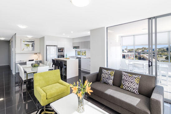 Oaks_Woolloongabba_2 Bedroom_Living
