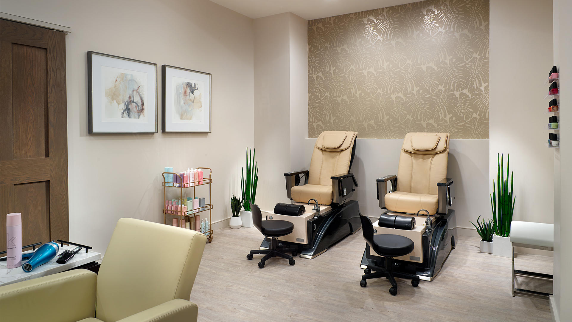 Pedicure chairs at Mokara Spa