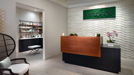 Mokara Spa Reception Desk at Omni Houston Hotel