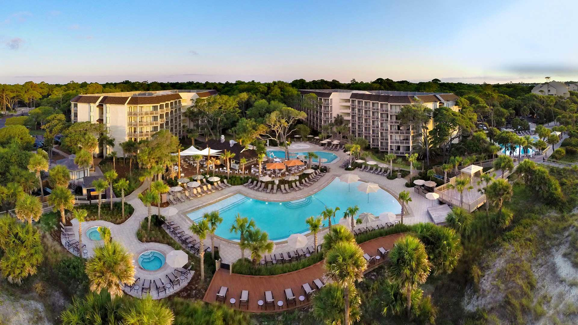 Aerial view of Omni Hilton Head Oceanfront Resort