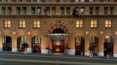 Omni San Francisco Hotel at night