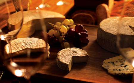 Island Sparkling Wine and Local Cheese Board