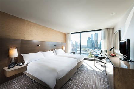 Pan Pacific Melbourne_Family mit Queensize-Bett