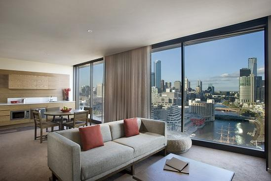 Pan Pacific Melbourne_Two Schlafzimmer Stadt Skyline Suite