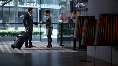 Pan _ Pacific _ Serviced _ Suites _ Orchard _ Empfang