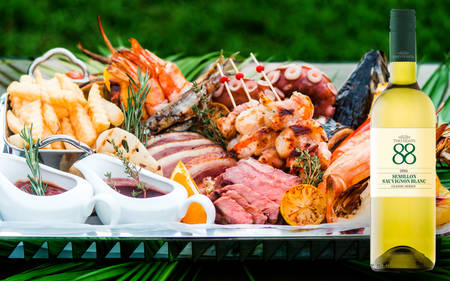 Enjoy PARKROYAL Nay Pyi Taw`s BBQ Platter Inclusive A Bottle Of White Wine In The Comfort Of Your Home