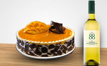 Enjoy PARKROYAL Nay Pyi Taw`s The Best Flavor Mango Cheese Cake Inclusive A Bottle Of White Wine In The Comfort Of Your Home