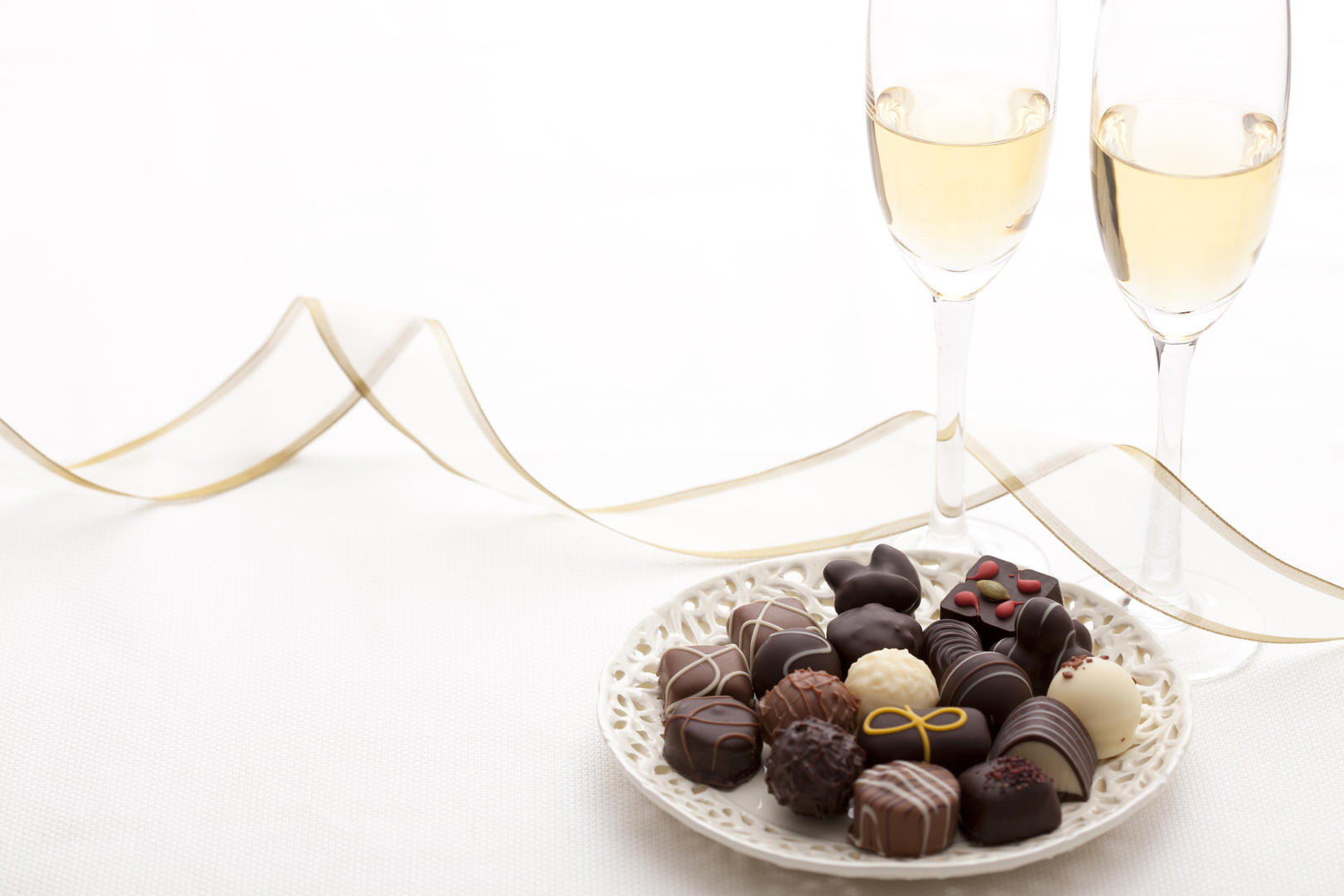 Prosecco and chocolate