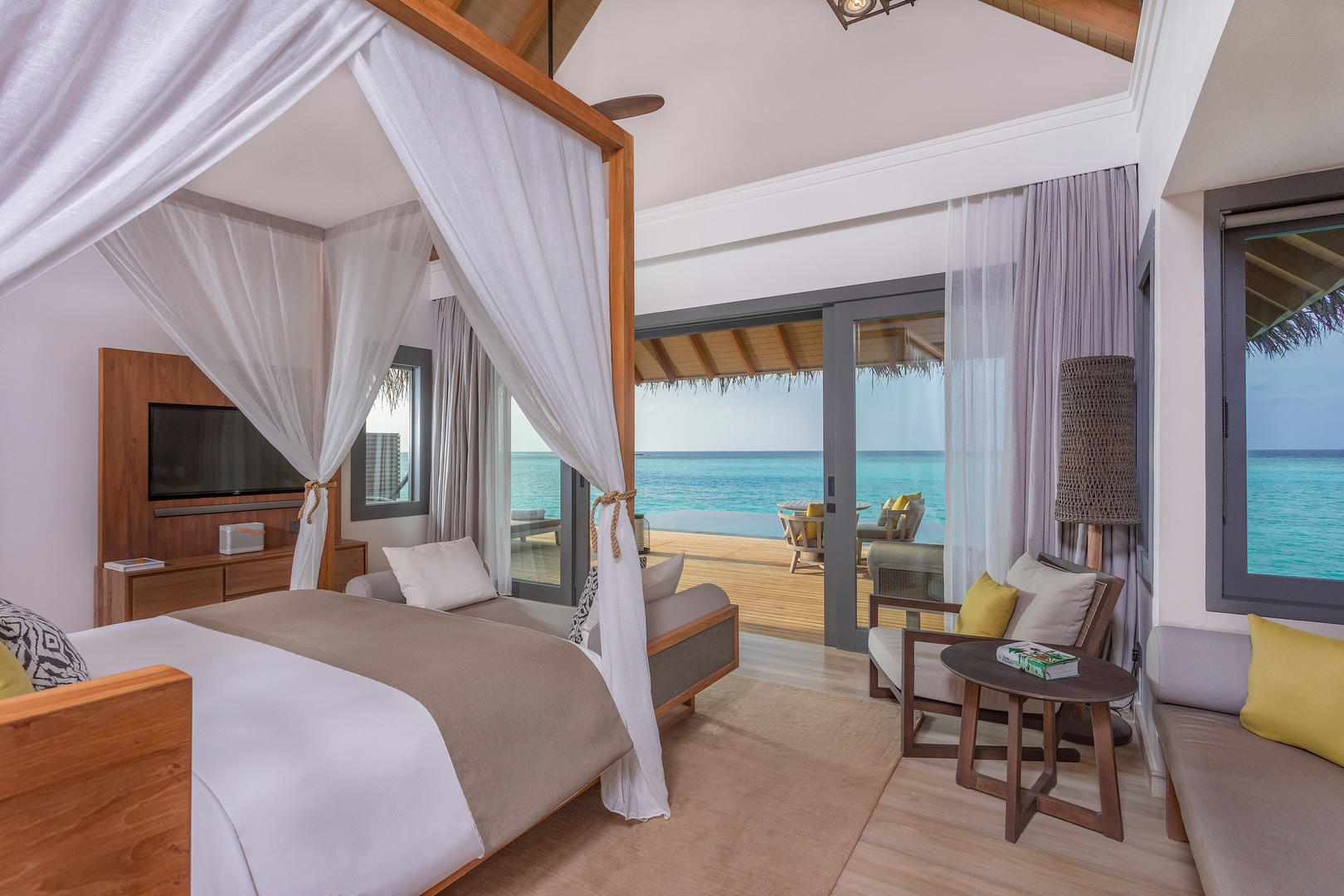 Over water family Pool Villa Bedroom